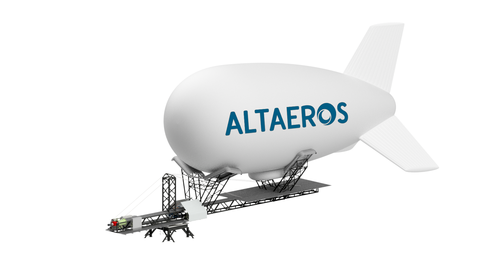 A diagram of the Altaeros ST-300 SuperTower